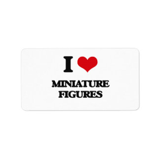 Amo figuras miniatura etiquetas de dirección