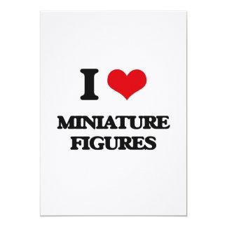 Amo figuras miniatura invitacion personalizada