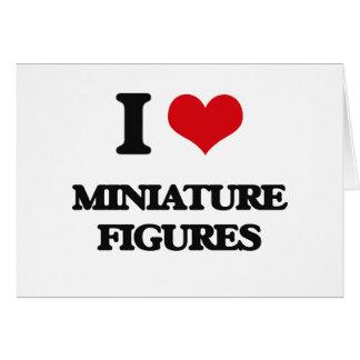 Amo figuras miniatura tarjetón