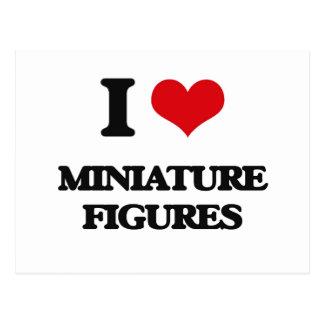 Amo figuras miniatura tarjetas postales