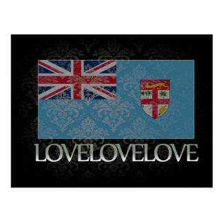 Amo Fiji fresca Tarjeta Postal