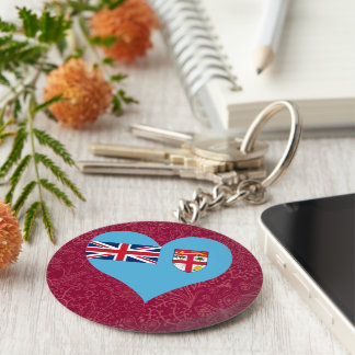 Amo Fiji Llavero Redondo Tipo Pin