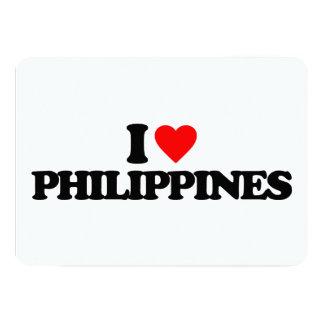 AMO FILIPINAS INVITACIÓN 12,7 X 17,8 CM