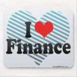 Amo finanzas alfombrilla de ratones