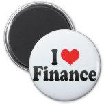 Amo finanzas imán para frigorífico