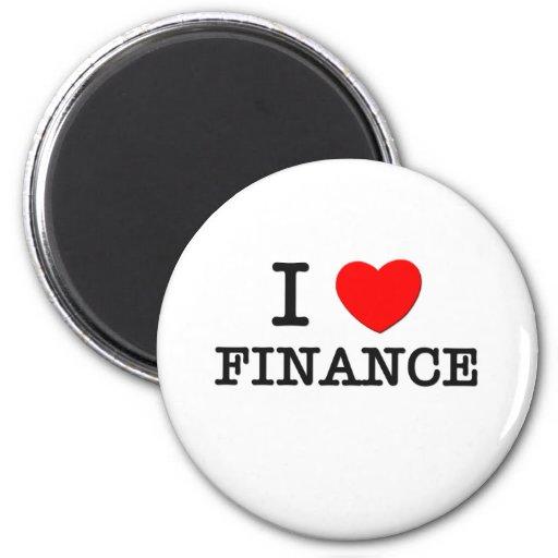 Amo finanzas imán redondo 5 cm