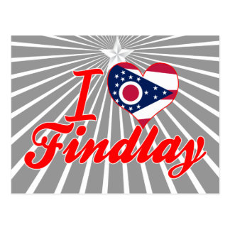 Amo Findlay, Ohio Tarjetas Postales