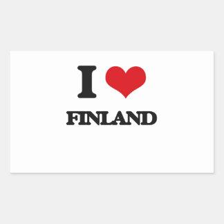 Amo Finlandia Rectangular Pegatinas