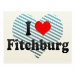 Amo Fitchburg, Estados Unidos Tarjeta Postal