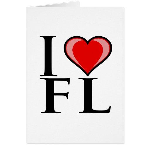 Amo FL - la Florida Tarjeta De Felicitación