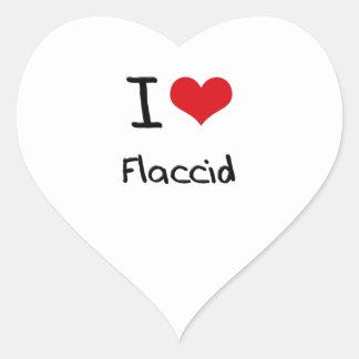 Amo flácido pegatinas corazon