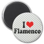 Amo flamenco imán de frigorifico