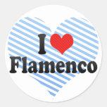 Amo flamenco pegatinas redondas