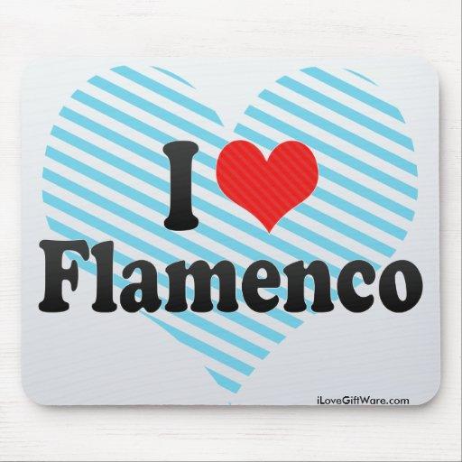 Amo flamenco tapete de raton