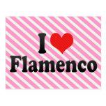 Amo flamenco tarjetas postales