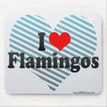 Amo flamencos alfombrillas de ratones