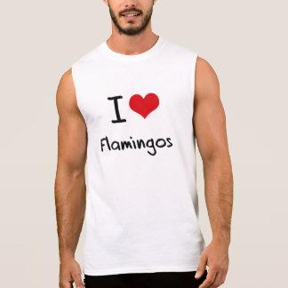Amo flamencos camiseta sin mangas