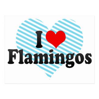 Amo flamencos postal
