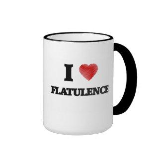Amo flatulencia taza de dos colores