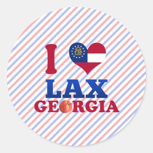 Amo flojo, Georgia Etiquetas Redondas
