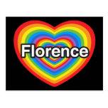 Amo Florencia. Te amo Florencia. Corazón Postales