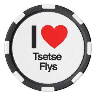 amo flys del tsetse juego de fichas de póquer