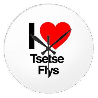 amo flys del tsetse reloj redondo grande