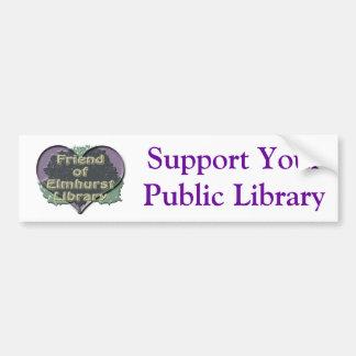 Amo FOEL, apoyo su biblioteca pública Pegatina Para Auto