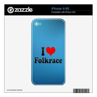 Amo Folkrace Calcomanía Para iPhone 4