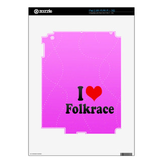 Amo Folkrace Calcomanías Para iPad 2