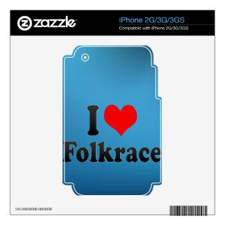 Amo Folkrace iPhone 3 Calcomanías