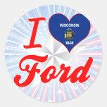 Amo Ford, Wisconsin Etiqueta Redonda