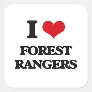 Amo Forest Rangers Pegatina Cuadrada