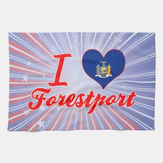 Amo Forestport, Nueva York Toallas
