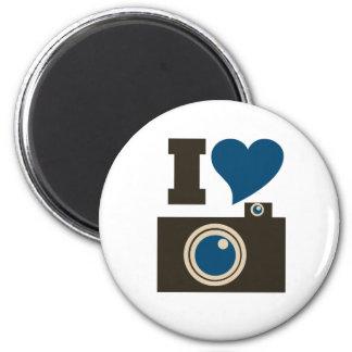 Amo fotografía imán redondo 5 cm