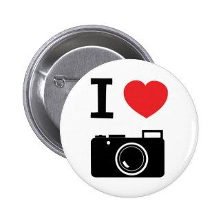 Amo fotografía pin redondo 5 cm