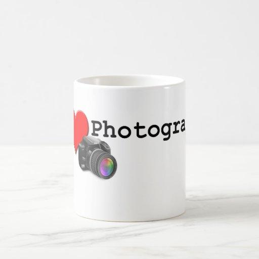 Amo fotografía taza