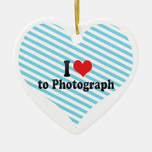 Amo fotografiar adorno de cerámica en forma de corazón