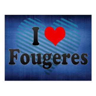 Amo Fougeres, Francia Tarjeta Postal