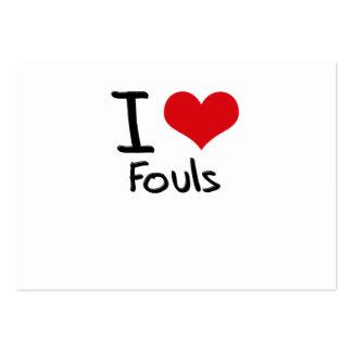 Amo Fouls Plantillas De Tarjetas Personales