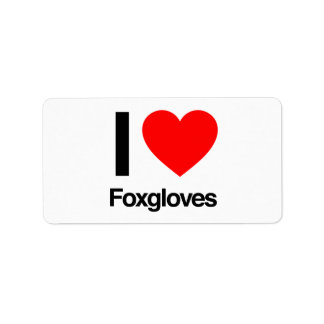 amo foxgloves etiqueta de dirección