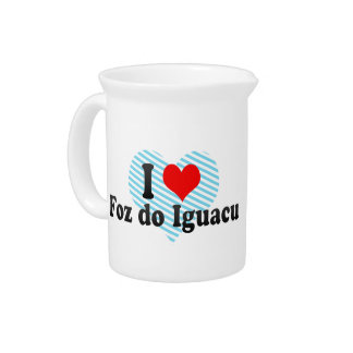 Amo Foz hago Iguacu, el Brasil Jarras Para Bebida