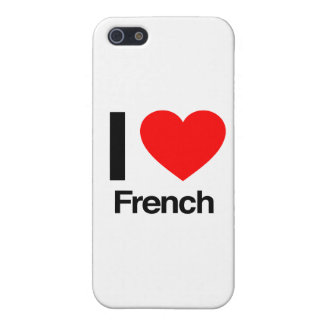 amo francés iPhone 5 fundas
