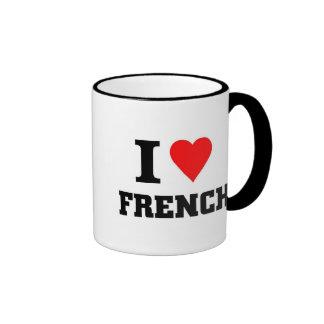 Amo francés taza de dos colores