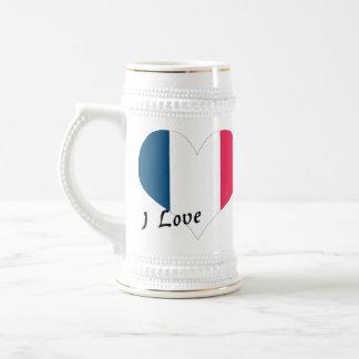 Amo Francia Jarra De Cerveza