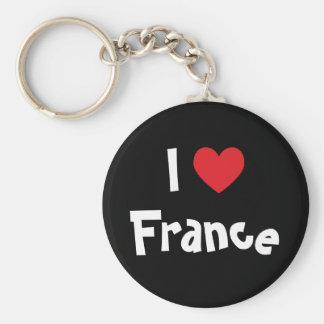 Amo Francia Llaveros Personalizados