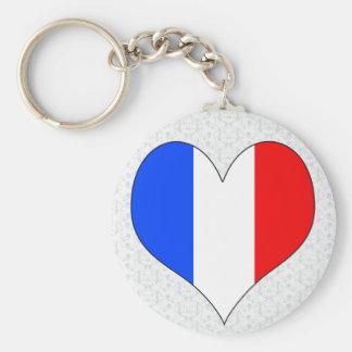 Amo Francia Llavero Redondo Tipo Pin