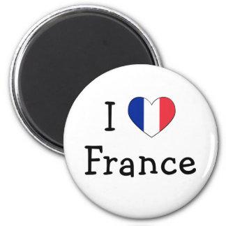 Amo Francia Imán De Nevera