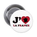 Amo Francia Pin Redondo De 2 Pulgadas