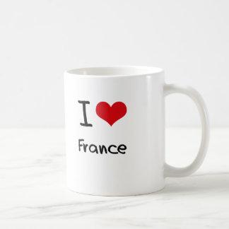 Amo Francia Taza Básica Blanca